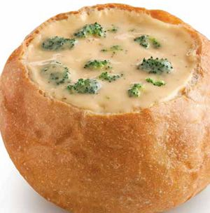 Why not make tonight a soup night? Broccoli Cheese Soup can go to stovetop to dinner table in about 30 minutes. And yes, it's delicious in a bread bowl.