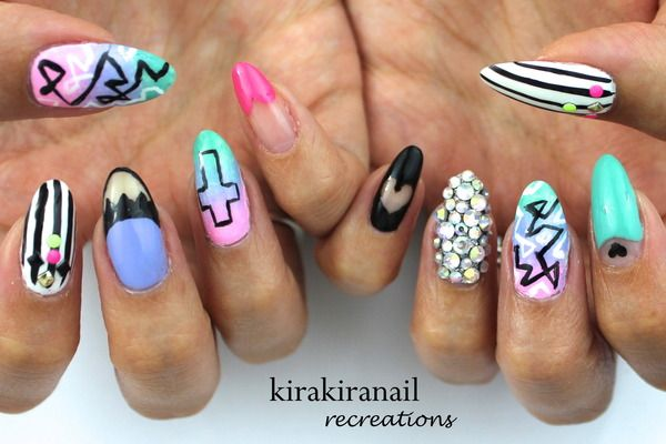 Nail art make up - mixed