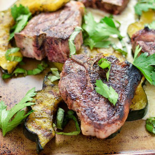 Pan-Seared Lamb Chops with Roasted Acorn Squash and Artichoke Puree Recipe on Yummly
