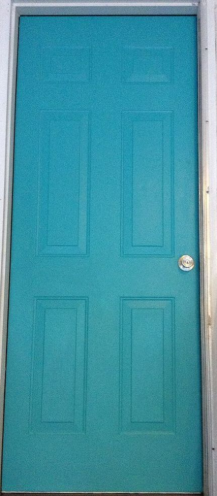 How do I glaze, or distress, my turquoise door?