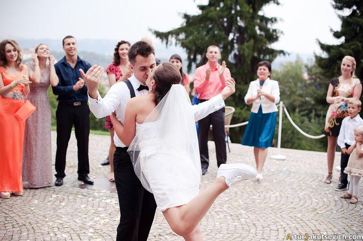 First newlyweds dance