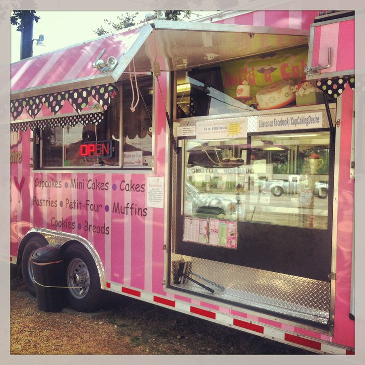 Cupcaking Desire Bakery food truck in Austin, TX. Cute truck and lots of options to order. Yelp check-in has BOGO