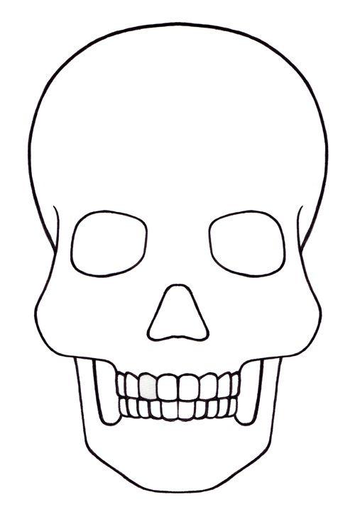 Skull Template mini - Day of the dead - Mexico | Templates ...