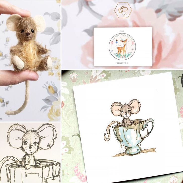 Today's MyFairyTaleMake inspired illustration... this adorable little mouse!