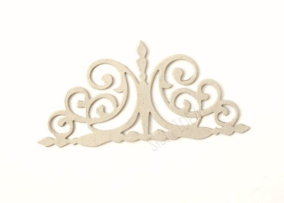 Set of 6 Chipboard Curly Gate  Die cut outs by StudioIdea on Etsy