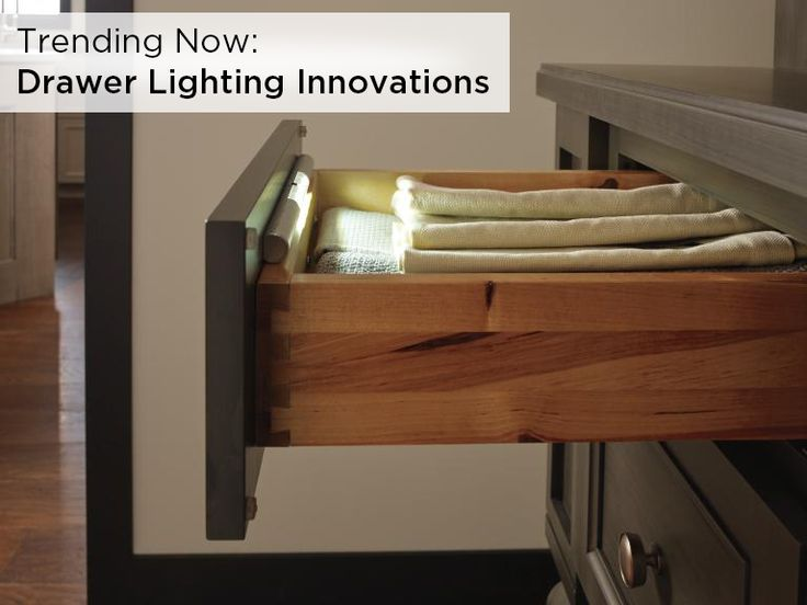 Find This Pin And More On Modern Kitchen Appliances This Convenient Cabinet Drawer Light