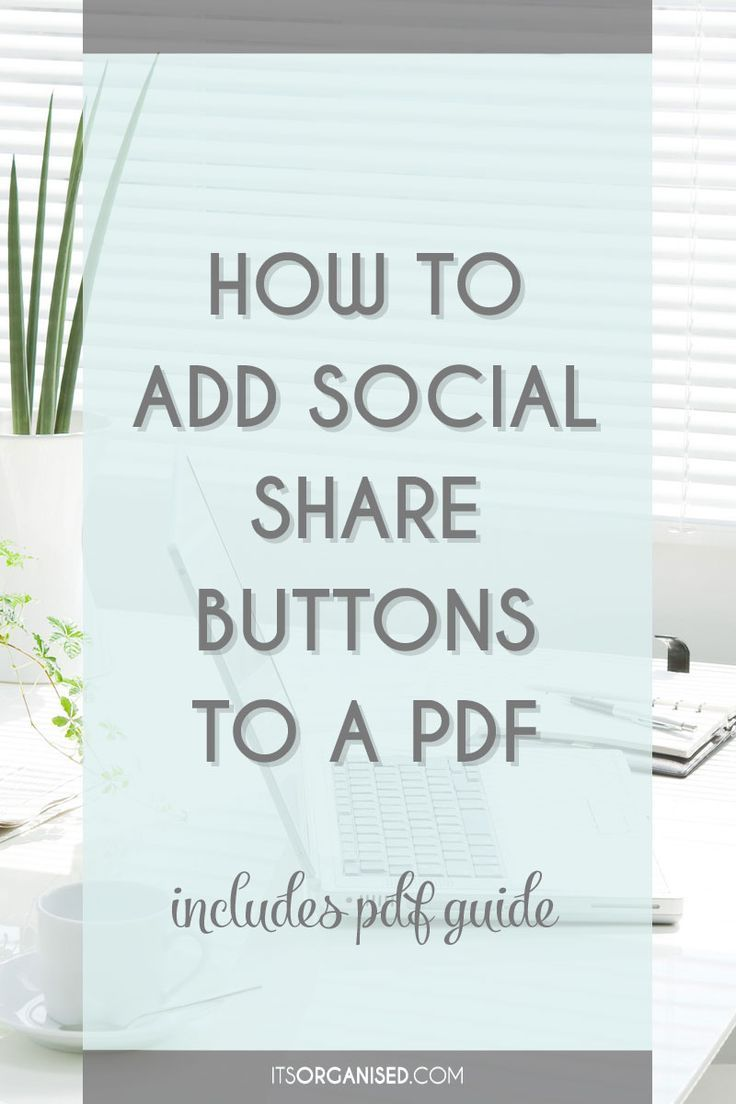 People love sharing things but, you need to make it quick and easy. Adding social share buttons to PDFs is a great way to do this. The video tutorial below will show you how simple this is using Adobe Acrobat Pro. There is also a free Cheat Sheet to download, which includes the step-by-step and the specific URLs you need for Twitter, Linkedin, Google and Facebook. Include PDF guide download.