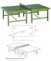 Cómo diseñar una mesa de ping pong con planos