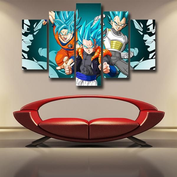 Goku Vegeta And Gogeta SSJ God Blue Goku Canvas