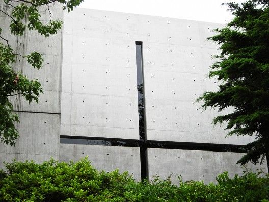 """Church of the Light by Tadao Ando - """"The reinforced concrete volume is void of any and all ornament that is not part of the construction process.  The seams and joints of the concrete are built with precision and care by master Japanese carpenters, along with Ando, that have worked to create an immaculately smooth surface and accurately aligned joints."""""""