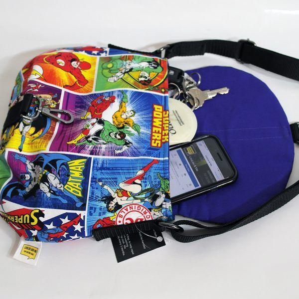 #DCComics fabric - Crossbody bag