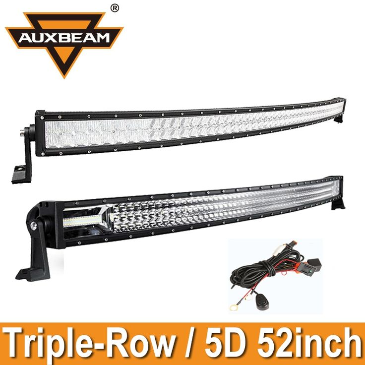 """155.00$  Watch here - http://ali2ao.worldwells.pw/go.php?t=32684383332 - """"Auxbeam 52"""""""" CREE Chips 5D/Triple Row LED Curved Led Light Bar Offroad Led Work Light Bar for Ford/Toyota Pickup Truck SUV Combo"""" 155.00$"""