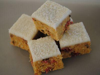 Cherry Ripe Biscuit Slice