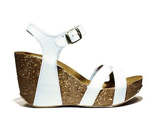 Oferta: 69.9€. Comprar Ofertas de BIO NATURAL ART. BIO 101 80 zapatos de mujer sandalias de cuña, tacón alto, NUEVA COLECCIÓN PRIMAVERA VERANO 2016 DE CUERO BL barato. ¡Mira las ofertas!
