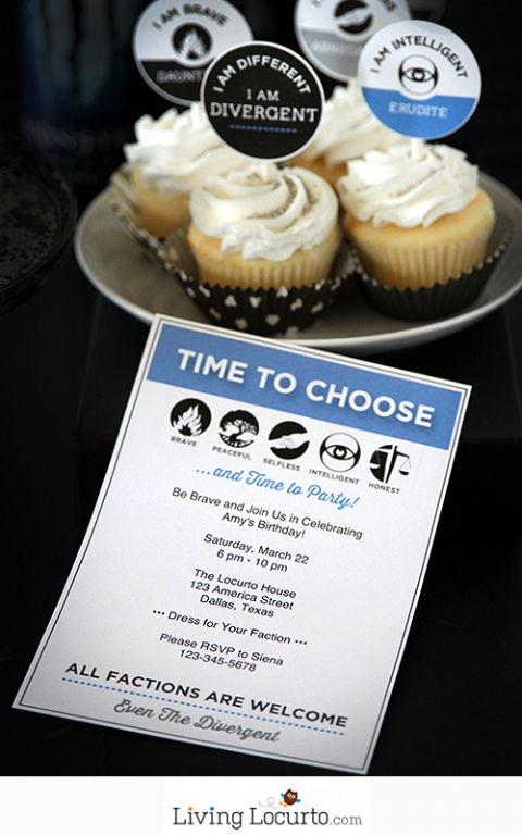 Divergent Party Ideas with Free Printable Invitation. LivingLocurto.com