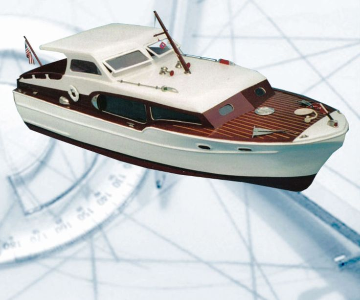 "Model Boat Plans chris craft comander 211/2"" R/C full Size Printed Plans & notes #ListingisforFullSizePrintedPlans"