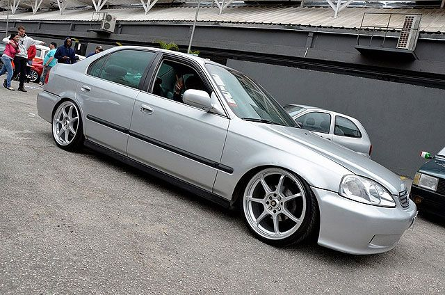 Civic LX 2000 rebaixado e rodas aro 18 #101