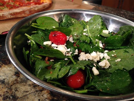This #Warm #Spinach #Salad from I Love NY Pizza makes a great side!