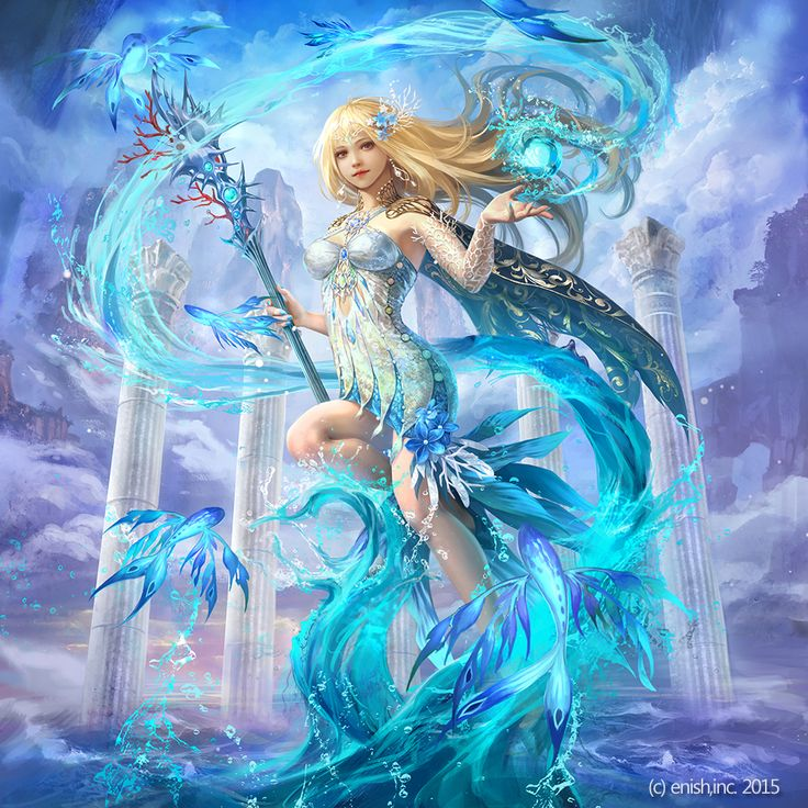 water magic dragon girl - photo #10