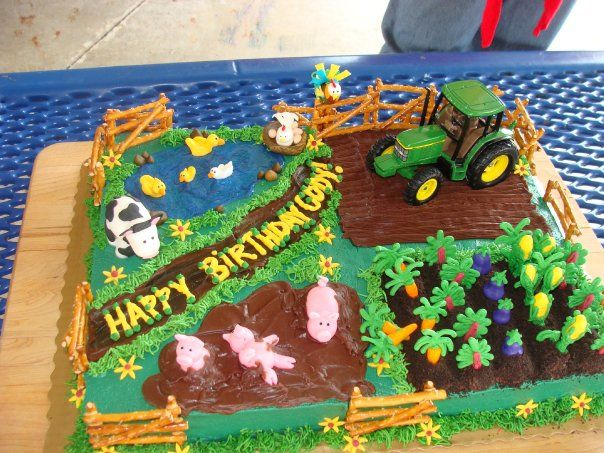 Really fun cake ideas... mermaid, farm, monster truck, and princess!