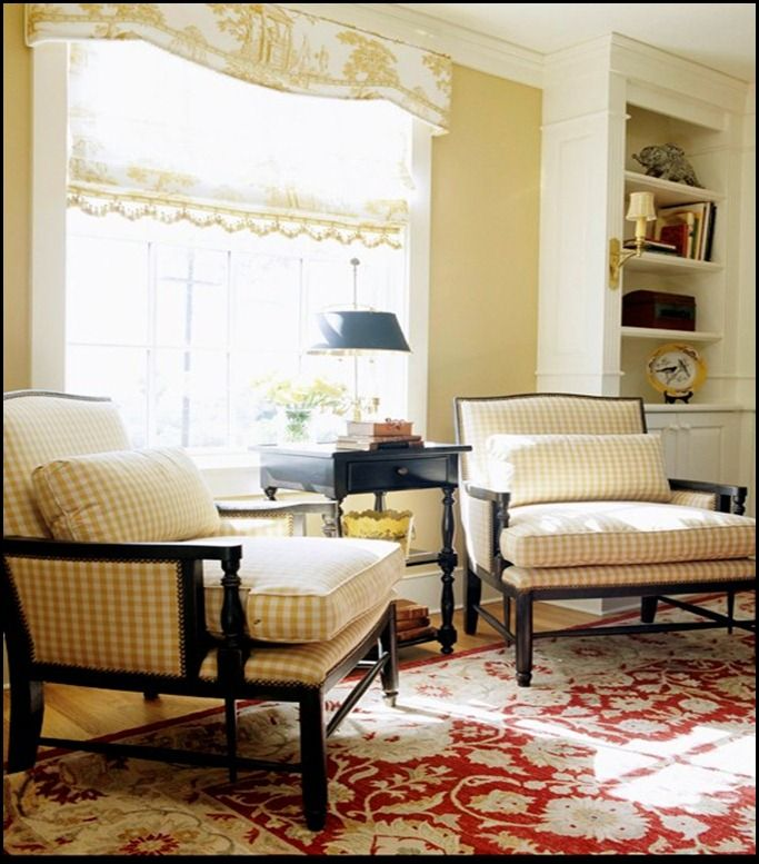 Black And White Toile Rug: I Love Buffalo Check And Toile Together--master
