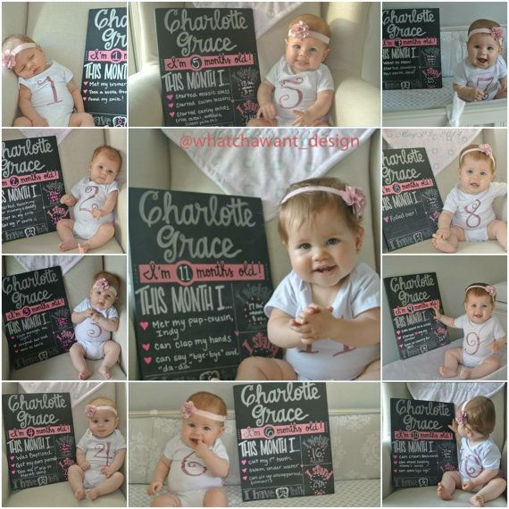LOVE THIS!! Documenting baby's first year with this monthly milestone chalkboard! **Pin now to find later!**
