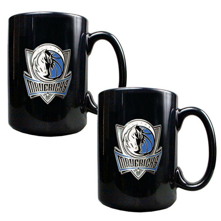 Dallas Mavericks 2-pc. Mug Set, Black