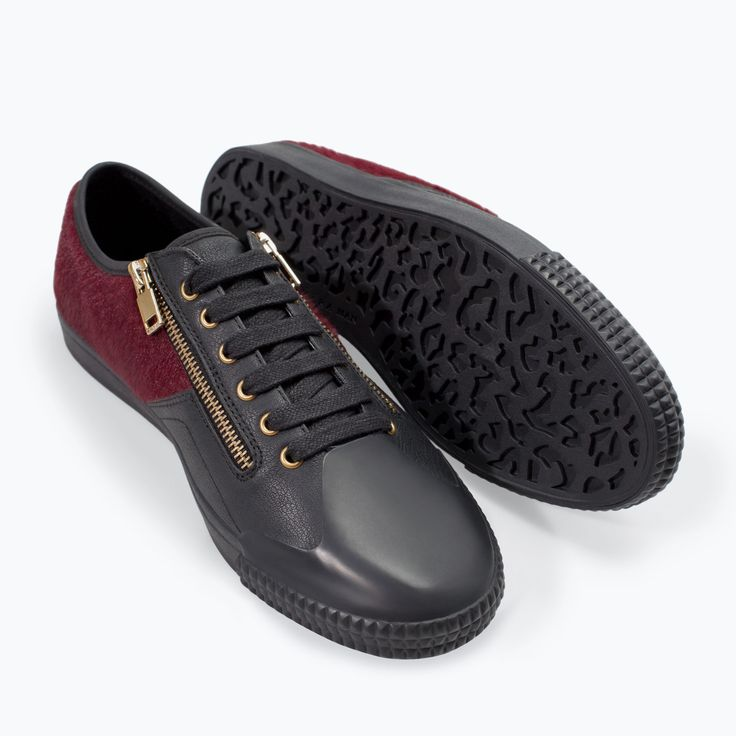 ZIPPED SNEAKER - Shoes - MAN | ZARA Germany | Men\u0026#39;s Shoes ...