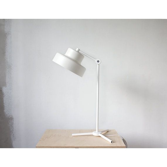 Tripod Table Lamp White Table Lamp Metal Desk Lamp by RRRub