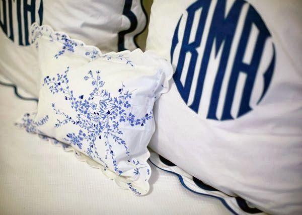 Metropolitan Musings: Monogrammed Bedding