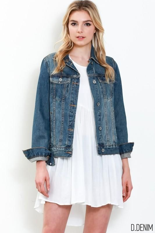 Jessica Dark Wash Jean Jacket