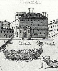 Консерватория «Пиета» в Венеции. Вивальди было только 25 лет,когда он начал работать в «Ospedale della Pietà». Именно там он соч.большинство св. крупных произведений в теч.послед.30 лет. После встречи с имп.Карлом VI Вивальди переехал в Вену,надеясь на продвижение по службе.Однако император умер вскоре после прибытия Вивальди,а сам композитор сконч.менее чем через год в нищете.