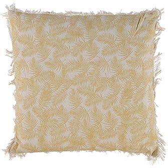 Olive Palm Print Cushion 45x45cm