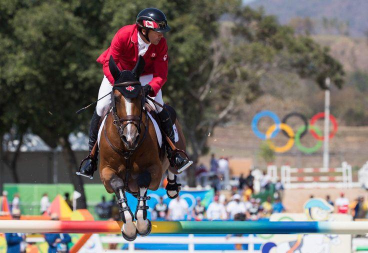 Eric Lamaze lors de la finale de saut d'obstacles aux Jeux olympiques de Rio (1340×922)