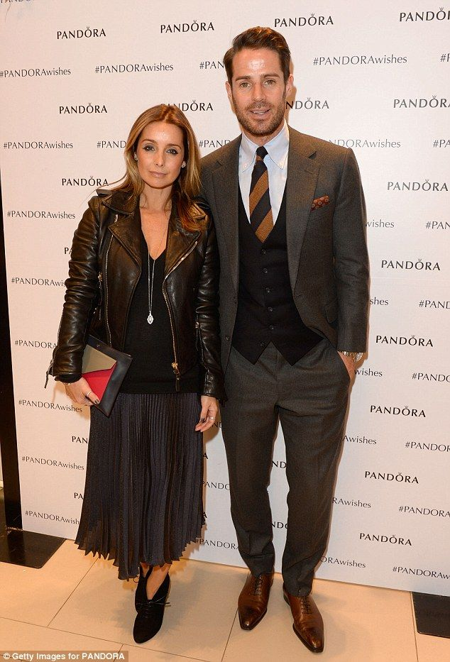 Cute couple: Jamie and Louise Redknapp, who of Pandora's Christmas couples, stepped out fo...