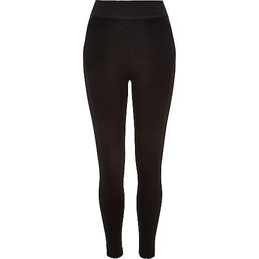 Zwarte legging met hoge taille - leggings - broek - dames