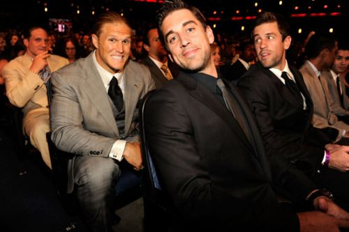 Aaron Rodgers w/ Luke Rodgers and Clay Matthews