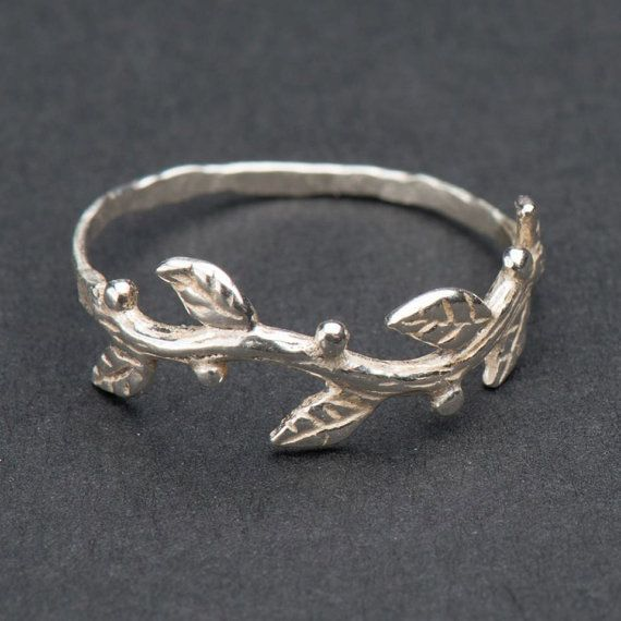Silver twig ring tree branch ring Unique silver by DvoraSchleffer, $28.00