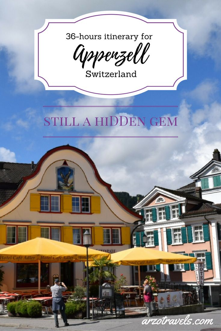 Find an itineray for Appenzeller Land in Switzerland which is still a hidden gem. It has been one of the most colorful towns I visited and gorgeous scenery.