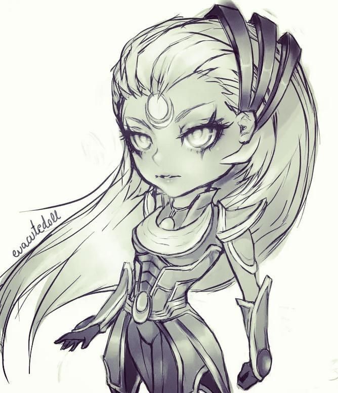 Diana League of Legends chibi
