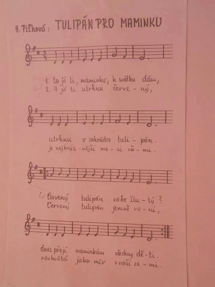 Píseň ke dni matek