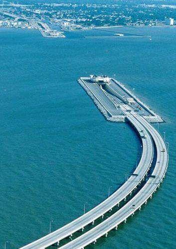 Virginia Chesapeake Bay Bridge connecting Hampton Roads