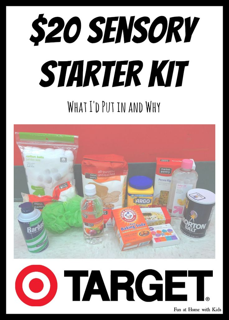 Sensory Starter Kit for under $20 from Target   FUN AT HOME WITH KIDS