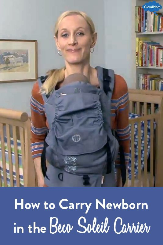 9a8339d70d2 Learn how to carry your newborn in the Beco Soleil Baby Carrier with their  legs in. Easy to follow video demo showing you exactly what to do!