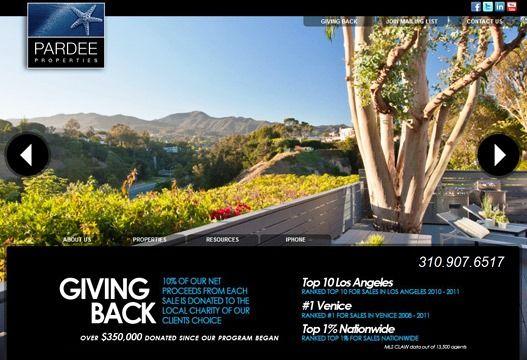 Website Real Estate Desain Terbaik - Pardee Properties - Venice, CA