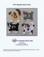 Dog  Magnetic Picture Frames- Plastic Canvas Pattern or Kit
