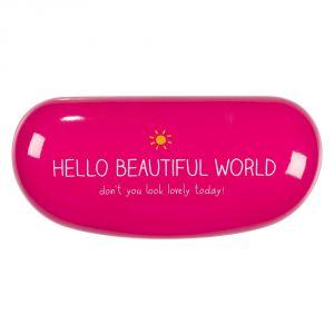 Hello Beautiful World Gözlük Kabı