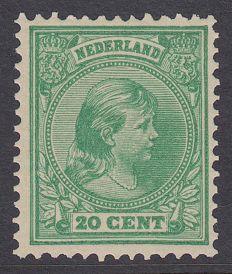 Nederland 1891 - Prinses Wilhelmina 'Hangend haar' - NVPH 40, met certificaat