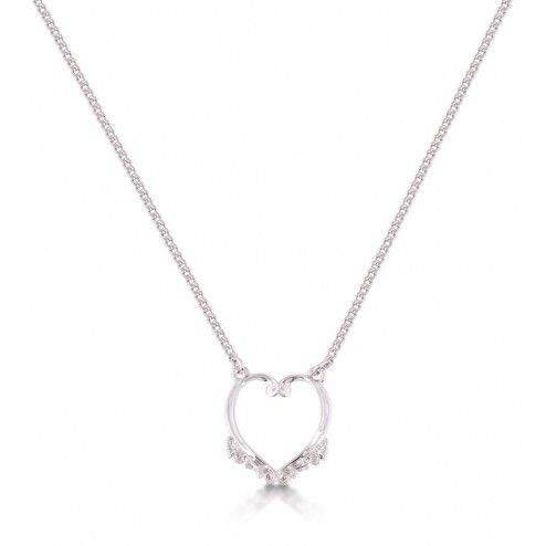 Disney Couture Frozen Heart Pendant Necklace at aquaruby.com