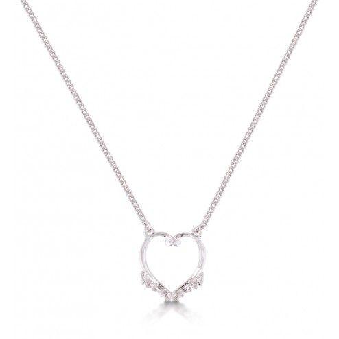 Disney Couture Frozen Heart Pendant Necklace at aquaruby.com